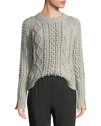 3.1 Phillip Lim - Cable-knit Popcorn Wool Pullover Jumper - Lyst