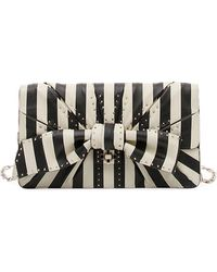 Valentino V.Stripes Bow Clutch Bag 3dl3Ob7qT