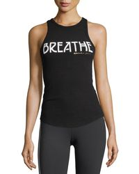 Spiritual Gangster - Breathe Ribbed Racerback Tank - Lyst