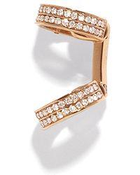 Repossi - Berbère Small Pavé Single Diamond Ear Cuffs In 18k Gold - Lyst