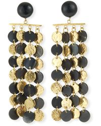 Ashley Pittman - Four-chain Dark Horn & Bronze Drop Earrings - Lyst