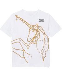 Burberry - Girl's Chain Unicorn Short-sleeve Tee - Lyst