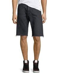 Saint Laurent Raw-edge Bermuda Shorts - Black