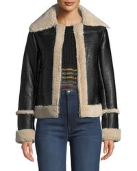 Mother - The Boxy Zip Moto Faux-leather Jacket - Lyst