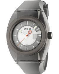 61a788cd3c8 Lyst - Gucci Sync Xxl Resin Watch in Metallic for Men