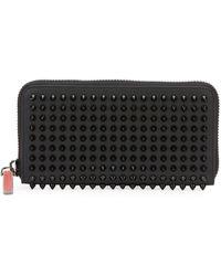 Christian Louboutin Men's Panettone Studded Leather Wallet - Black