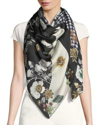 Alexander McQueen - Patched Gingham Silk Shawl - Lyst