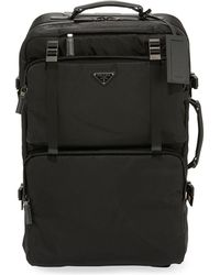 Prada - Tessuto-trim Nylon Trolley Suitcase Luggage - Lyst