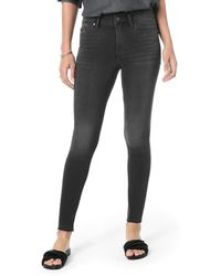 Joe's Jeans The Charlie Ankle High-rise Skinny With Hidden Zipper - Black