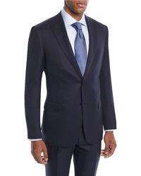 Brioni - Men's Tonal Stripe Wool-silk Two-piece Suit - Lyst