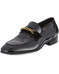 73e6b30c3679 Lyst - Tom Ford Wakefield Patent-leather Loafers in Black for Men