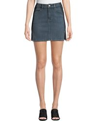 Current/Elliott - The Mashed Two-tone Denim Mini Skirt - Lyst