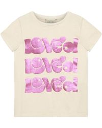 721d4c996 Gucci Loved Rainbow Stripe T-shirt in Pink - Lyst