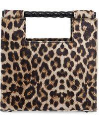 Mehry Mu Velvet Leopard Unicorn Top Handle Bag - Multicolour