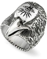 Gucci - Men's Eagle Head Sterling Silver Ring - Lyst