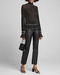 Peter Pilotto Shimmered High-neck Sweater - Black