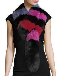 Charlotte Simone Popsicle Fur Scarf - Black