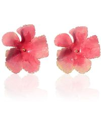 Jennifer Behr - Wild Rose Hand-painted Stud Earrings - Lyst