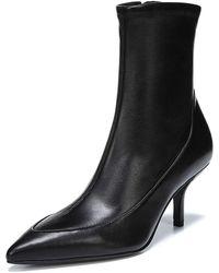 Diane von Furstenberg - Morgan Leather Pointed Booties - Lyst