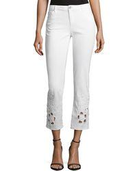 Elie Tahari - Azella Embroidered Skinny Jeans - Lyst