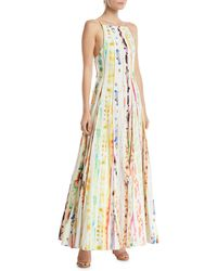 Rosie Assoulin - Million Pleats Watercolor Rainbow Dress - Lyst