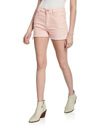 Mother The Dutchie Frayed Shorts - Pink