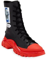 adidas By Raf Simons Men's Rs Detroit High Boot Sneakers - Black