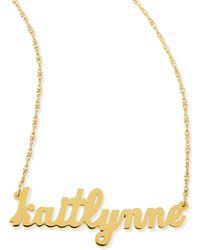 Jennifer Zeuner - Serafina Personalized Mini Nameplate Necklace - Lyst