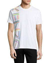 f5f65af25 KENZO - Men's Vertical Rainbow Logo Short-sleeve Crewneck T-shirt - Lyst