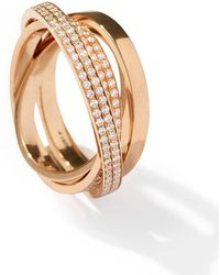 Repossi - Technical Berbère Diamond Ring In 18k Rose Gold - Lyst