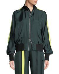 Robert Rodriguez - Silk Zip-front Track Jacket - Lyst