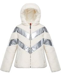 Moncler - Cabourg Chevron-striped Hooded Coat - Lyst