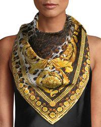 Versace - Wild Baroque Silk Scarf - Lyst