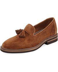 Brunello Cucinelli - Tasseled Suede Loafer - Lyst