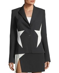 Thierry Mugler - Bicolor Crepe Star Jacket - Lyst