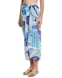 Anna Coroneo - Cotton Voile Shell Scarf - Lyst