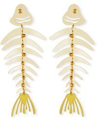 Oscar de la Renta - Bold Fishbone Statement Clip-on Earrings - Lyst