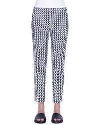 Akris Punto Frankie Soundboard-pattern Jersey Trousers - Black