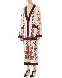 Gucci - Mini Jardin De Rose Pajama-style Pants With Web Detail - Lyst