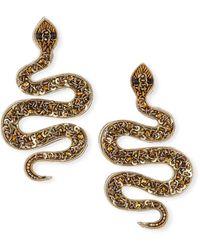 Ranjana Khan Snake Bead Post Earrings - Metallic