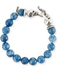 Emanuele Bicocchi - Men's Blue Agate Sterling Silver Bracelet - Lyst