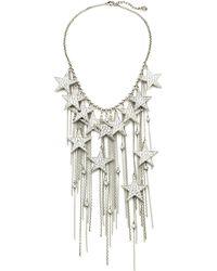 Ben-Amun - Rock Star Crystal Chain Fringe Necklace - Lyst