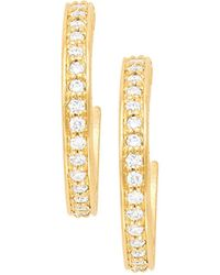 Jamie Wolf - 18k Petite Pave Hoop Earrings - Lyst