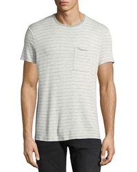 ATM - Men's Striped Slub T-shirt - Lyst