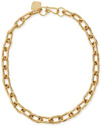 "Ashley Pittman - 18"" Hammered Bronze Chain Necklace - Lyst"