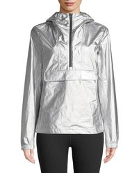 The North Face - Hooded Wind-resistant Metallic Anorak - Lyst