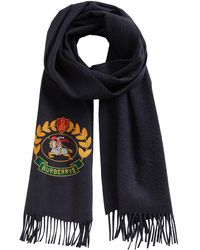 Burberry | Vintage Crest Embroidered Cashmere Scarf | Lyst