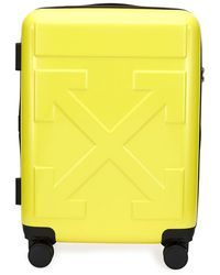 Off-White c/o Virgil Abloh Arrow Hard Shell Spinner Trolly Luggage - Yellow