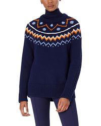 Tory Sport - Performance Merino Fair Isle Cable-knit Jumper - Lyst