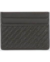 Ermenegildo Zegna Pelletessuta Leather Cardholder - Black